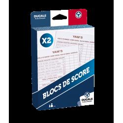 YAM'S - BLOCS DE SCORE x2
