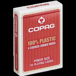 COPAG ROUGE JEU POKER PLASTIC