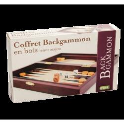 COFFRET BACKGAMMON ACAJOU