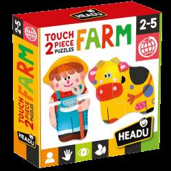 TOUCH 2 PIECES PUZZLES : FARM